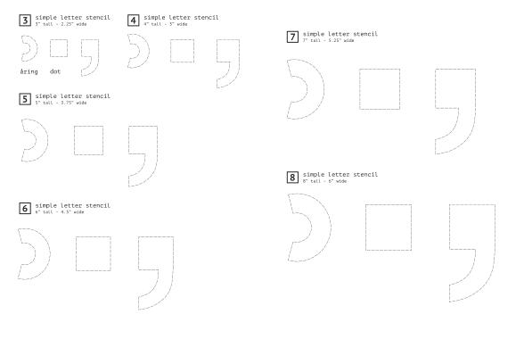 Stencil — Diacritics