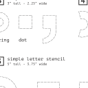 Diacritics Stencil